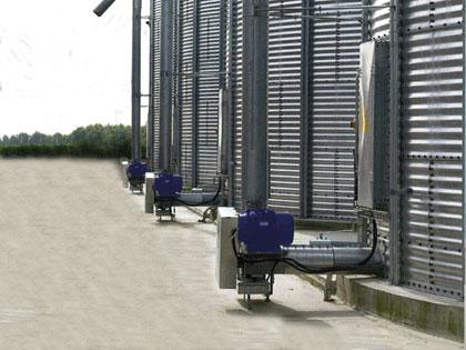 Cóclea de extracción y entrega desde silos