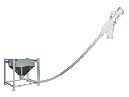 Flexible tubular auger