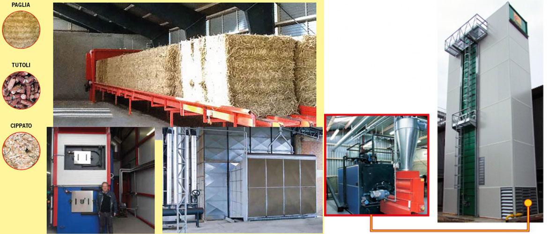 Caldera de biomasa para secadores