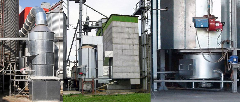 Générateur de chaleur biomasse à poussières de céréales.