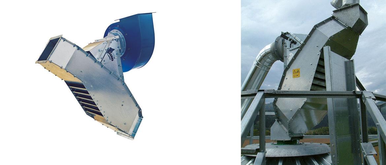 Nettoyeur par aspiration incliné PA-I : à appliquer à l'entrée d'un silo