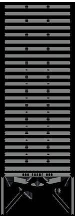 Silo aus quadratischen Zellen