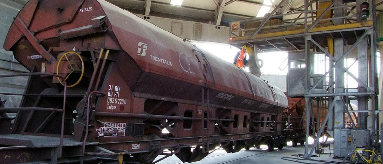 Anlage für Eisenbahnlogistik