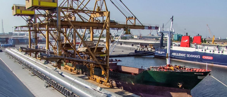 Anlage für Hafenlogistik